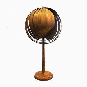 Moon Tischlampen aus Holz von Hans-Agne Jakobsson, 1960er, 2er Set