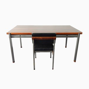 Mid-Century Dutch Rosewood Dining Table & Chairs Set from TopForm, Set of 2
