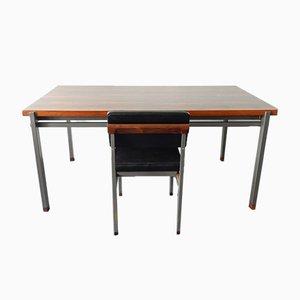 Niederländischer Mid-Century Palisander Esstisch & Stühle Set von TopForm, 2er Set