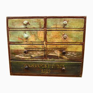 Small Antique Tabletop Chest of Drawers