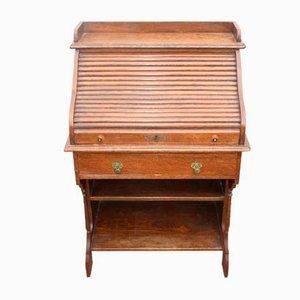 Small Vintage Oak Roll Top Desk, 1920s