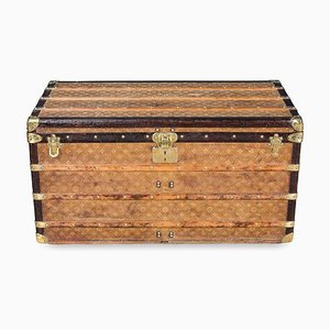 Antique Woven Fabric Steamer Trunk from Louis Vuitton, 1900s
