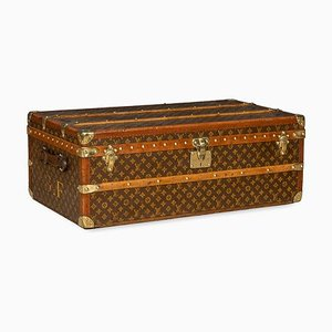 Vintage French Monogrammed Cabin Trunk from Louis Vuitton, 1920s