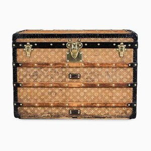 Antique Woven Fabric Trunk from Louis Vuitton, 1890s