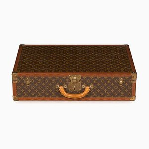 Vintage French Monogrammed Fabric Suitcase from Louis Vuitton, 1970s