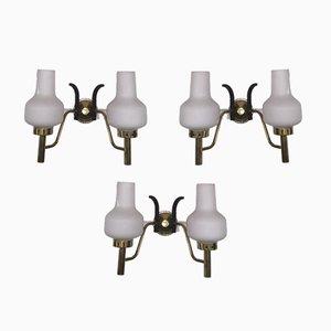 Vintage Wandlampen, 1950er, 3er Set
