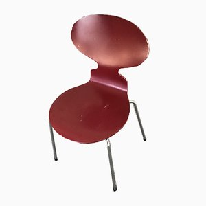 Red Model 3101 Ant Chairs by Arne Jacobsen for Fritz Hansen, 1970s, Set of 10