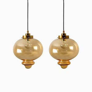 Pendant Lamps in the Style of Raak, 1970s, Set of 2