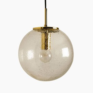 Hand Blown Pendant Light by Glashütte Limburg, 1960s