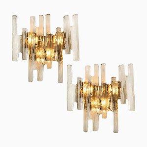 Österreichische Wandlampen aus Eisglas von JT Kalmar, 1960er, 2er Set