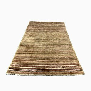Afghan Handmade Wool Ziegler-Gabbeh Chobi Rug with Natural Dyes in Beige