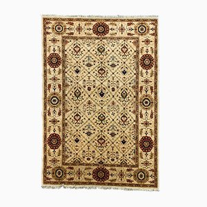 Afghan Handmade Wool Ziegler Chobi Rug in Beige, Red, Green & Blue