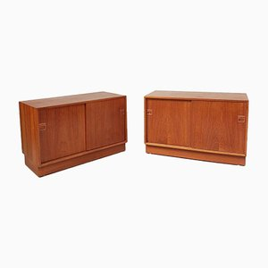 Mid-Century Danish Record Cabinets by Horsens Hjornebo, Set of 2