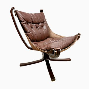 Falcon Lounge Chairs by Sigurd Ressell for Vatne Mobler, 1970s, Set of 2