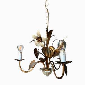 Florale Mid-Century Deckenlampe, 1950er