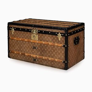 Antique French Woven Fabric Trunk from Louis Vuitton, 1900s
