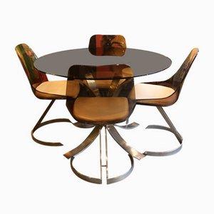 Esstisch & Stühle Set von Boris Tabacoff, 1970er, 5er Set