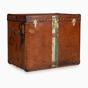 Antique French Cowhide Suitcase from Louis Vuitton, 1900s