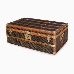 Antique French Cabin Trunk from Goyard, 1900s