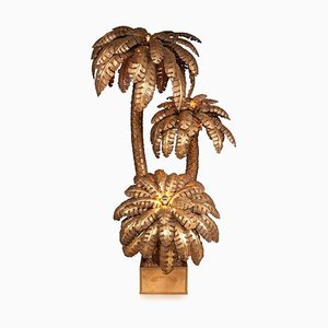 Französische Vintage Palmen Stehlampe von Maison Jansen, 1970er
