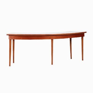 Italian Curved Rosewood and Formica Console Table, 1950s