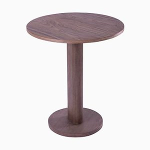 Galta Central Leg Walnut Round Table by SCMP Design Office