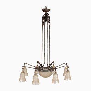 Art Deco Deckenlampe von Hettier et Vincennes, 1920er