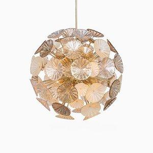 Large Mid-Century Italian Handmade Venetian Glass Sputnik Chandelier