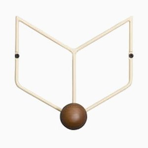 Epure Solo Cream & Teak Coat Rack by AC/AL Studio
