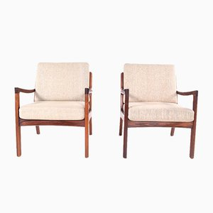 Mid-Century Rosewood Lounge Chairs by Ole Wanscher for France & Søn / France & Daverkosen, 1960s, Set of 2
