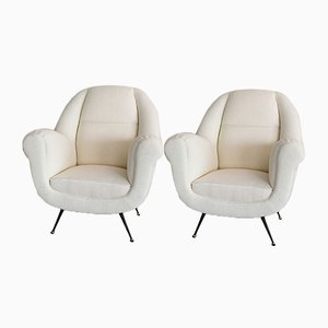 Vintage Italian Lounge Chairs, 1960s, Set of 2