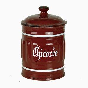 Pot de Chicorée en Métal Émaillé, 1940s