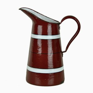 Enameled Metal Jug, 1940s