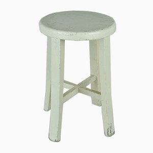 White Painted Stool, 1950s