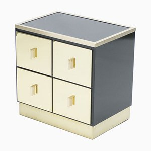 Italian Lacquered Brass Nightstands by Luciano Frigerio for Frigerio Di Desio, 1970s, Set of 2