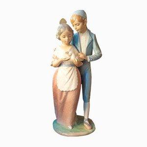 Figurine en Porcelaine d'un Couple Romantique de NAO par Lladro, 1970s