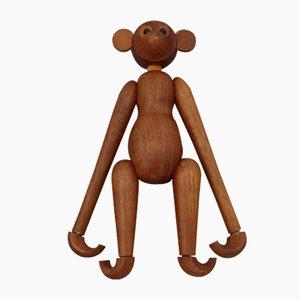 Scimmietta vintage in legno, Danimarca, anni '70, set di 2