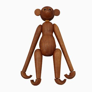 Vintage Danish Wooden Monkey, 1970s, Set of 2