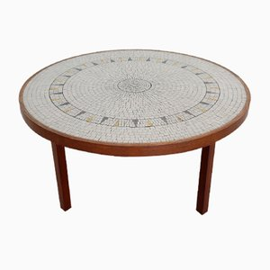 German Mosaic and Teak Coffee Table from Berthold Müller Oerlinghausen, 1960s