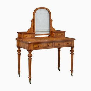 Victorian Satin Birch Dressing Table