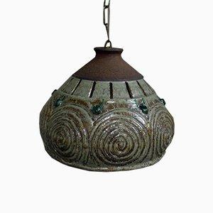 Französische Keramik Deckenlampe, 1960er