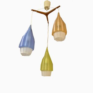 French Chandelier from Rotaflex, 1950s