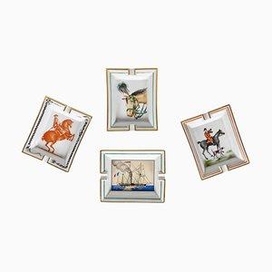 Französischer Mid-Century Aschenbecher von Hermès, 4er Set