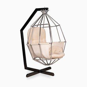 Silla en forma de jaula en forma de loro vintage de Ib Arberg, años 70