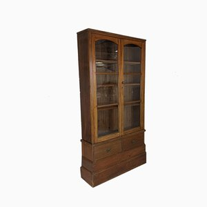 Antiker glasierter Edwardianischer Mahagoni Schrank