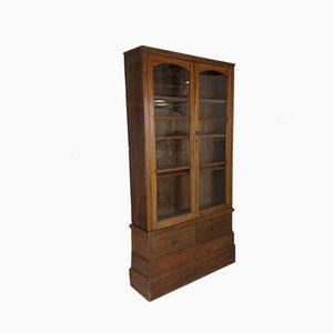 Antique Edwardian Glazed Mahogany Cabinet