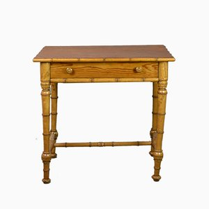 Antique French Faux Bamboo Side Table