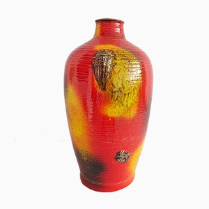 Large Red, Yellow, and Black Vase from Carstens Tönnieshof, 1970s