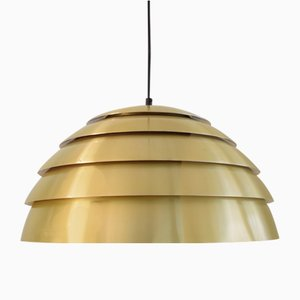 Mid-Century Swedish Brass Pendant Lamp by Hans-Agne Jakobsson for Markaryd, 1960s