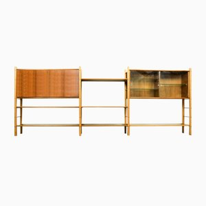 Walnut Wall Unit by William Watting for Fristho, 1950s